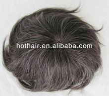 High quality thin PU injection 100% indian human remy hair lace toupee for men