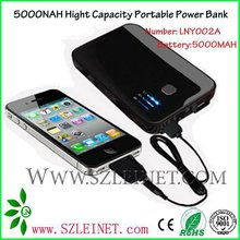 2012 New Products High Capacity Portable Power Charger 5000mah