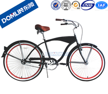 DOMLIN With 19 years manufacturer experience factory supply Customized 26 Inch Mans Beach Cruiser Bike
