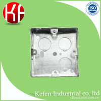 BS4662 Galvanized 3x3 Switch box with knock out holes