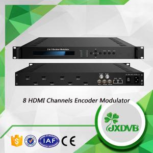 Digital Volle 1080 P DVB-C RF Out 8 Kanäle TS zu IP HDMI Modulator