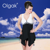Olgak 2016 Black Top Sexy Beach Skirt Swimsuit