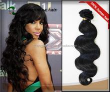 "factory price women's 16"" 1b color hair body wave wholesale virgin eurasian virgin hair extension"