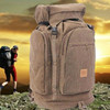 Durable brown canvas man mountaineering travel big hiking sports backpack bag
