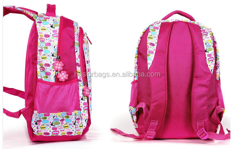 2015 nouveau Design de chinois sac d'école pour fille