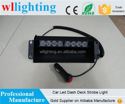 8 LED Car Deck Dash Strobe Flash Warning Emergency Vehicle Interior windshield Lights