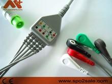 Fukuda Denshi 0012-00-1192 one piece 5 lead ECG Cable,AHA,snap