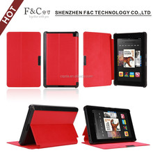 Hot selling pu leather case for Amazon Kindle Fire HD 6 inch leather case