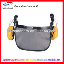 helmet safety face shield/wire mesh face shields with earmuff