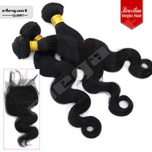 New arrival good quality silk lace closure pieces, 4*4inch,body wave