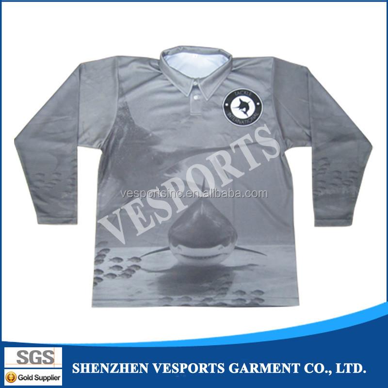 Dye Sublimation Fish Logo Shirts Custom Fishing Polo