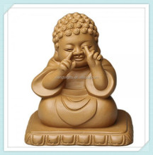Clay Teaboard Decor-Crafts-Smiling Buddha Statue