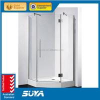 adjustable shower room shower enclosure with bracket