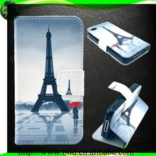 Outside leather+inside TPU leather Wallet case Flip cover for Iphone 5