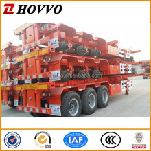 BV SASAO DOT ADR Certification and Semi-Trailer Type 40feet skeleton container trailer
