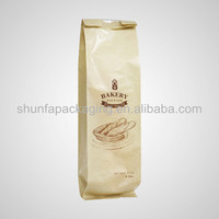 Snack food kraft paper bag with clear window/ transparent sandwich packaging bag
