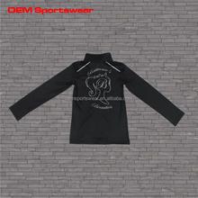 Custom black printed varsity sports jackets for women