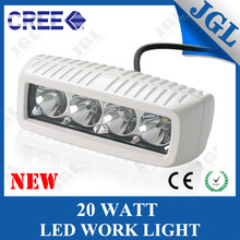Factory Supply 9~32v 20W cree waterproof ip68 led work bench light for ATV
