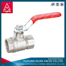 yuhuan manufacturer ce approved straight stop quarter turn ball valves with steel handle