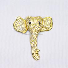 Fashion elephant rhinestone buckle metal decoration accessories for women shoe