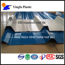 Typhoon resistant pvc roofing sheet new design plastic building material