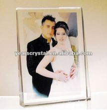 selling crystal glass photo picture frame for photo printing(R-1122)