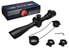 Z-O-S Red & Green Illuminated 4-16X44 Side Focus Rifle Scope For Hunting With PVC Cover and Ring Mounts