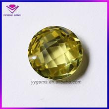 Promotion Price Wuzhou Europe Machine Brilliant Cut AAA Golden Yellow Loose Cubic Zirconia Stones