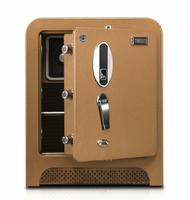 New design wholesale fashion door lock hotel fingerprint safe combined champagne keypad security case