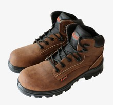 2015 NEW buffalo leather safety shoes injection PU