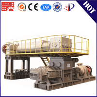 VP70 Double stage vacuum extruder automatic coal ash brick making machine for sintering brick