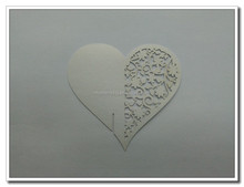 Paper heart place cards For Wine Glass
