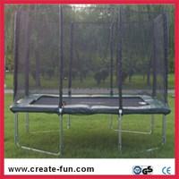CreateFun Kids Equipment 8x12 feet(2.44mx3.66m) rectangle trampoline with safety net enclosure