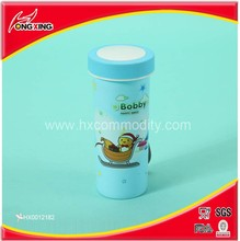 Plastic cartoon printing blue water bottles custom in cheap for kids
