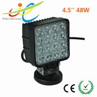 Squre 48w led work light lamp DC 12V 24V auto led work light for jeep truck led tractor work light