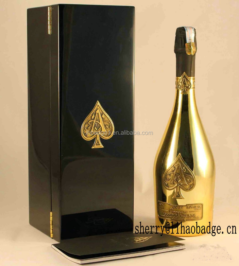embossed gold pewter metal stickers for armand de brignac champagne brut ace of spades buy. Black Bedroom Furniture Sets. Home Design Ideas