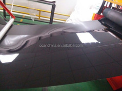 glossy pvc rigid pvc sheet black