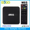 High performance 1gb ram 8gb rom AMLogic S812 M8S android 4.4 lcd tv box
