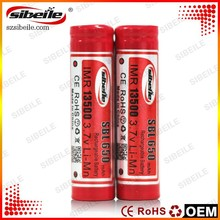 Newest SBL 650mah 8A li-ion rechargeable battery 13500 Battery 13500 Battery for flashlight /e-Cig mod/toys