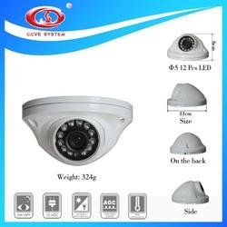 12pcs LED White Dome 700 tvl Sony Chip CCTV Invisible Video Camera