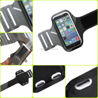 5.5 inch 0.8mm/29g TPU+lycra Adjustable Hot-pressing armband case for Blackberry Z3/z20/leap