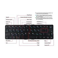 bluetooth wireless keyboard BK6089BA