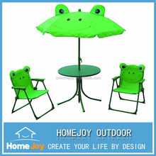 Kids garden 4pcs set, folding table and chairs, metal folding table and chair