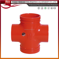 ductile iron pipe fitting grooved cross DN80-400