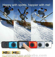 "Cheap sport camera 1.3mp cmos sensor max. 5mp 2"" touch panel HD 720p"