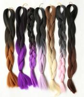 Ombre X-pression Braid Hair 100 kanekalon jumbo braid synthetic hair braid