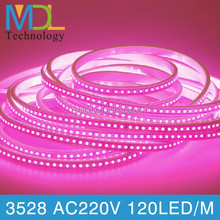 CE ROHS SMD3528 led strips 120led/m Red Yellow Blue Green White Warm White RGB AC220V flexible led strips light china wholesale