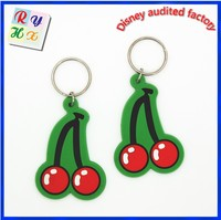 Cute and adorable design rubber fruits keychain