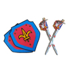knight sword and shield for kids' perfect present, outdoor game body shield for safety protect