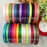 """Top popular 10mm 3/8"""" Multicolor wedding decoration Cloth tape Gift packaging 100% polyester Satin Ribbon 250yds/piece"""